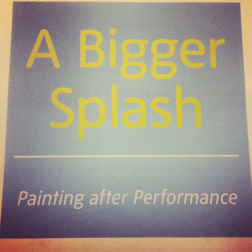 Exhibition No. 2: A Bigger Splash, Painting after Performance #tatemodern #exhibtion #london #tate  #randomtypography  (at Tate Modern)