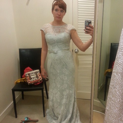 Tried on dresses yesterday… this wasn't it, but it was kinda pretty.