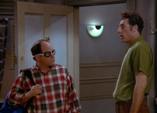 dailyseinfeld:  (George enters the apartment wearing goggles)KRAMER: Yeah, rock on! (via The Glasses)