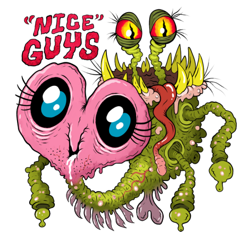 "tramampoline:  INTERNET GERMS - Nice Guys by ~scythemantis ""Fiendzoned again, huh? Guess it's just you and me now! Don't feel bad about it; you're a nice guy™ after all…you listened to her tedious problems for hours, you stayed up long into the night coming up with compliments to give her, you made her laugh that one time, and she has no idea how many times you valiantly stopped yourself from taking advantage of her, like a true gentleman! She's obviously stupid if she can't see what a catch that makes you, and clearly lacks the self respect it takes to know what's really best for her; if she had any sense of appreciation, she'd at least reward the years of grueling effort you put into feigning concern for her stupid feelings! Not everyone would do that just for her! Who needs bitches anyway! Let's call T. deebaggicus, we'll have a good old fashioned guy's night!"""