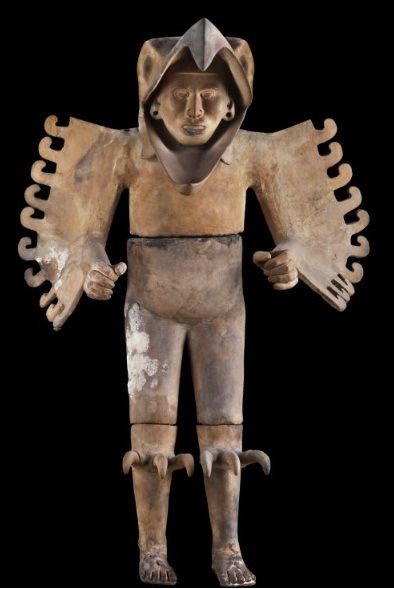 Eagle Warrior, 1440-69. Found near the Templo Mayor, near Mexico City. Terracotta, stucco, and pigment.