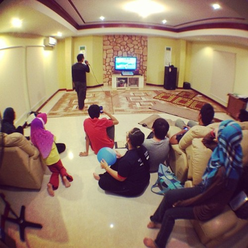 #Karaoke session (at Naqiuddin Ihsan's Residence)