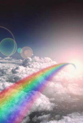 my dream is to fly over the rainbow so high♥