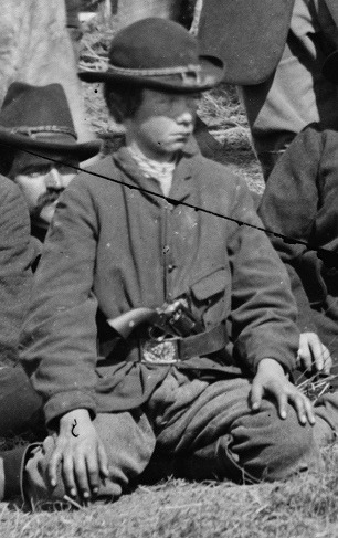 revoltedstates:  Yankee scout. Detail from a photograph of scouts and guides of the Army of the Potomac, Brandy Station, Virginia, March 1864. Library of Congress. Source: Brendan C.H. on Flickr.