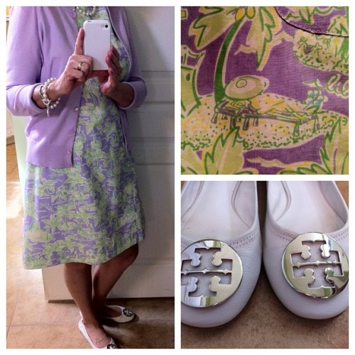 Lavender and Lime Lilly.  #ootd #church #whatiwore  #seniorfashion #sunday