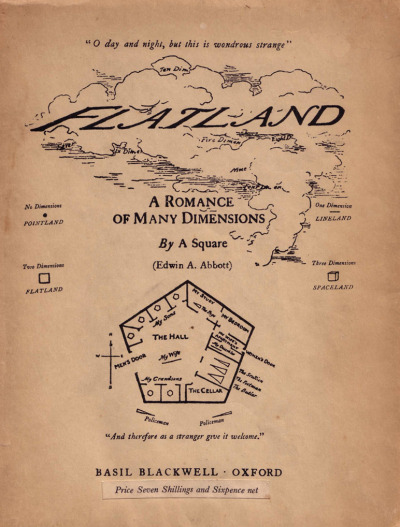 Flatland: A Romance of Many Dimensions [book] | Edwin Abbott Abbott [1884] #multidimension #fractals