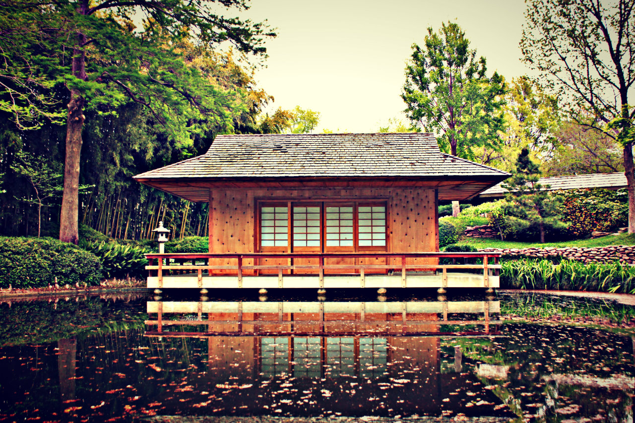 Japanese Garden in the Fort Worth Botanic Garden