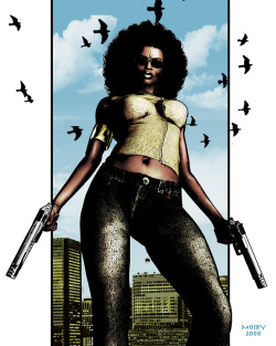 fuckyeablackart:  Angel of Baltimore by ~KRStyle