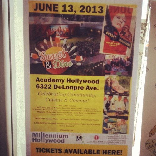 Tickets for Sunset & Dine on sale here! (at Amoeba Music)