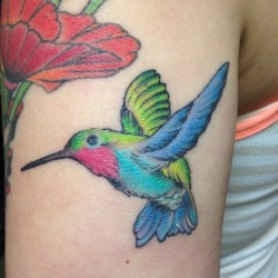 #hummingbird #tattoo on @line_22_owl