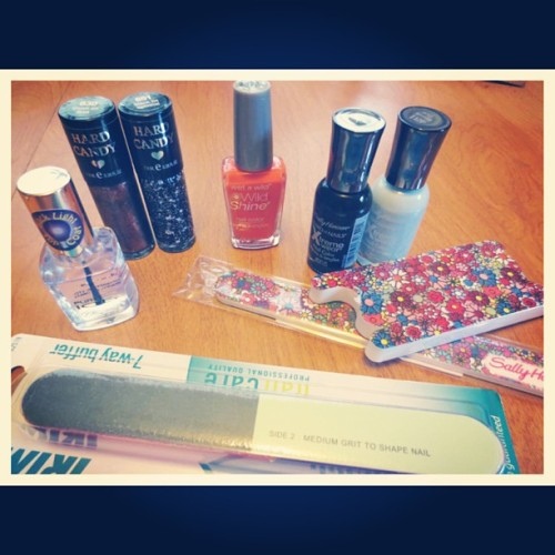 Picked up some new nail goodies! #nailpolish #sallyhansen #pureice #hardcandy #wetnwild