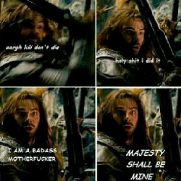 hoorayforshinyrings:  ((good luck kili ^-^)) #lotr #hobbit #dwarf #sword #majestic #majesty #thorin #king #of #majesty by samwise_brave_gamgee http://instagr.am/p/W20NG7BJvQ/