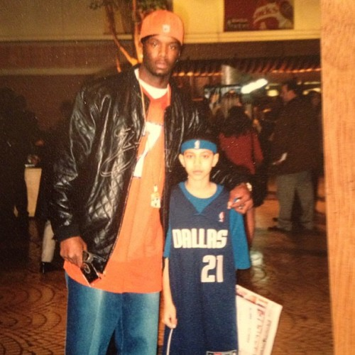 Kendall Marshall with now teammate Jermaine O'Neal at the 2003 NBA All Star game.