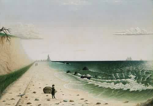 """Meditation by the Sea"" by Unknown Folk Artist; Museum of Fine Arts, Boston 1860"