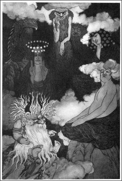 Sidney Sime Lo! The Gods! Illustration to Time and the Gods by Lord Dunsany c. 1907