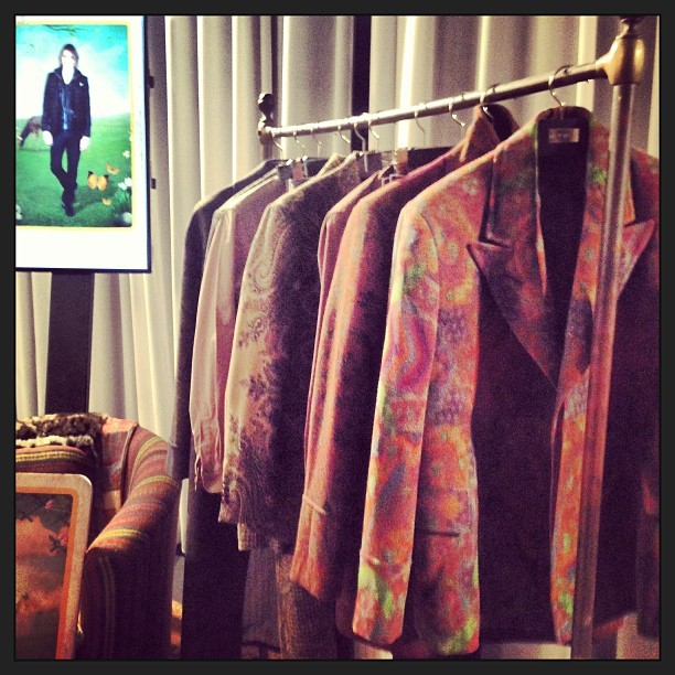 We're backstage at #Etro. #mfw #AtTheShows