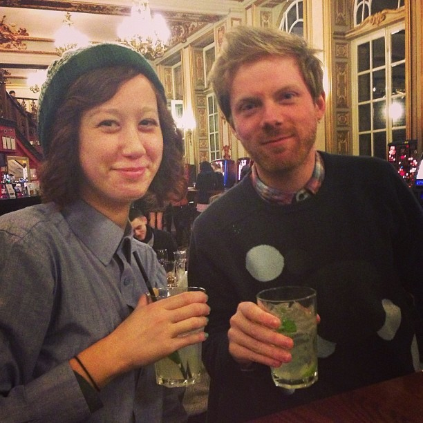 me and crispin drinking ~mojitos~~~ doing a good job at life c/o nat chin