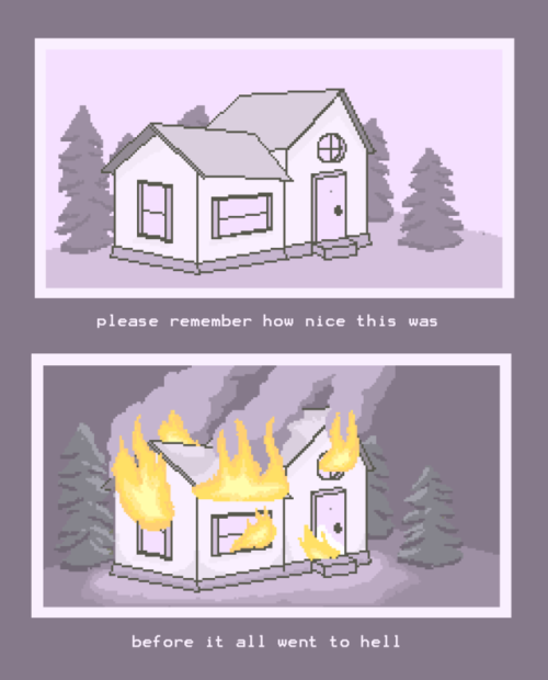 pixel art pixels artists on tumblr so i guess im really into fire and PUrpLE my art
