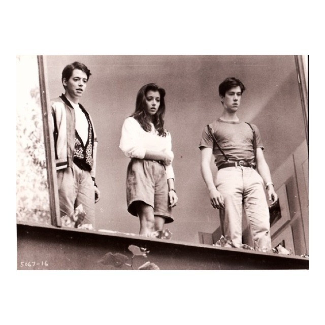 so-lethargic:  Matthew Broderick, Mia Sara, and Alan Ruck, 1986 Ferris Bueller's Day Off