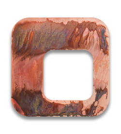 Gerold Miller Total object 327, 2013 copper-plated aluminum 60 x 60 x 4,5 cm