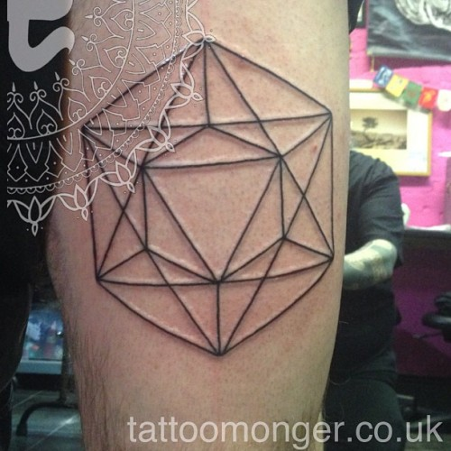 #tattoomonger #davidbarclay #tattoo #geometry #blackwork  (at london tattoo)