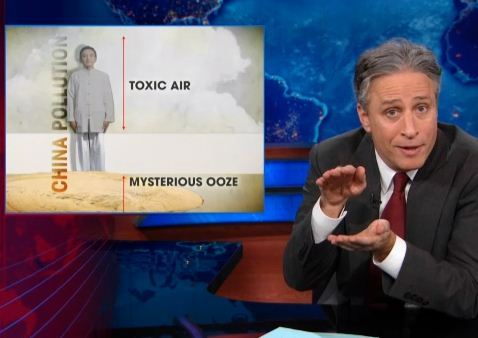 thedailyshow:  China's ooze leaves a sweet spot of breathable air between itself and China's poisonous air. Full Episode: Barackalypse Now, China's mysterious ooze, and Ellen Page sings Canada's praises. http://on.cc.com/16MmdGV