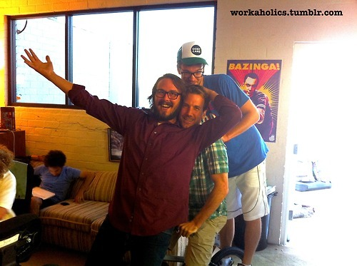 During a pre-production writing session, director Kyle Newacheck, Showrunner Kevin Etten, and writer Sean Clements show us that #GetWeird had to come from somewhere, right?