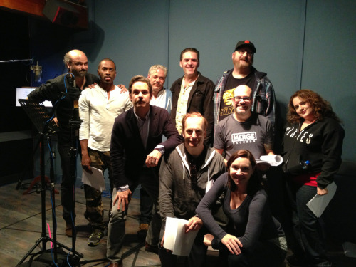 paulftompkins:  Mr. Show: Why Are They Now? Back row, l-r: Scottt Adsit, Jerry Minor, John Ennis, Jay Johnston, Brian Posehn Middle row: Paul F. Tompkins, Bob Odenkirk, David Cross, Artemis Pebdani Front row: Stephanie Courtney