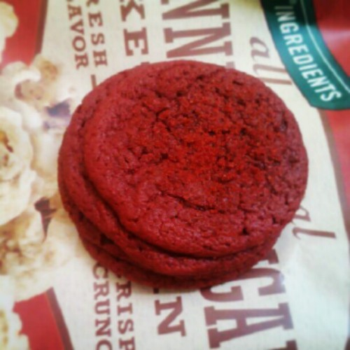 Stack of red velvet cookies #redvelvet #cookie #foodporn #instagood