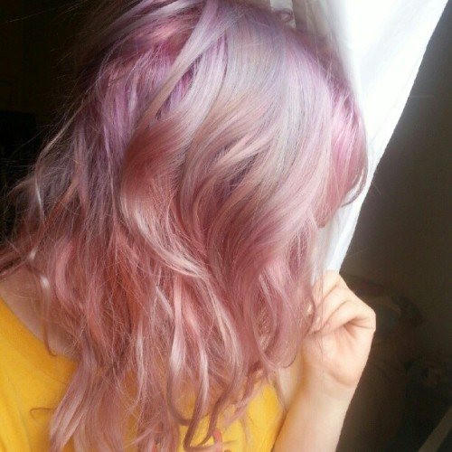 My new pastel galexy hair by @maredave #nofilter #pastel #cottoncandy #galaxy