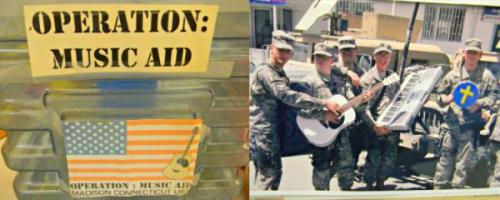 Resources for Veterans: Operation Music Aid Provides Musical Instruments to Wounded Vets Operation Music Aid, based in Madison, Connecticut, was founded to supply guitars and keyboards to wounded military service personnel now in military hospitals for extended care. The nonprofit supplies the instruments to the hospitals and they are distributed as needed to assist in physical and psychological rehabilitation, as well as for morale. Operation Music Aid wants to make sure that these young men and women are not forgotten, and their goal is to get an instrument to every one of our heroes who have been injured defending our freedom.