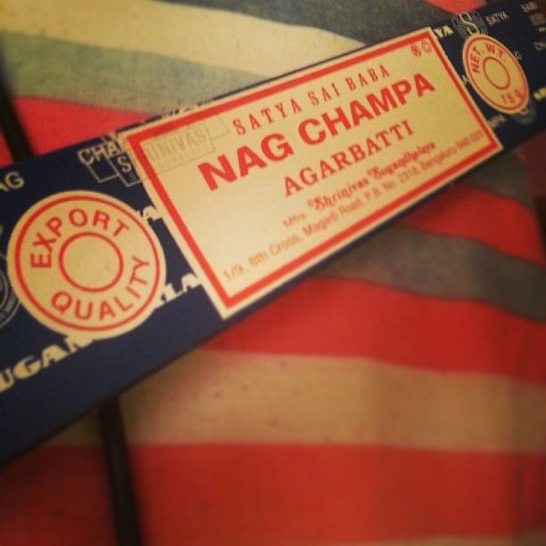 About to burn some Nag Champa and get some good vibes before bed…(not really. ..im actually trying to relax before I start writing these articles. ..#writerlife #itsnotagame) #nagchampa #incense #india #satyasaibaba #relaxation #meditation #blackhippy #instagood #instahashtagspam #hashtagspam #okayImgonnaburnthisnow