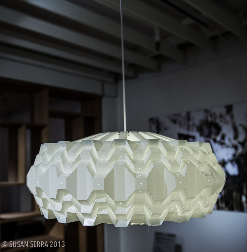 A stunning light fixture by Le Klint, the iconic Danish brand. Beautiful proportion and details.