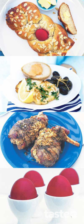 Christos anesti… or happy Easter! Celebrate Easter with a feast that matches traditional Greek fare and modern flavours. (Recipe by Yianni Sourris; Photography by Chris Court)