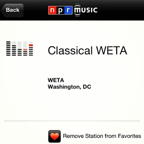 Nothing more soothing than the rain and some classical music #npr