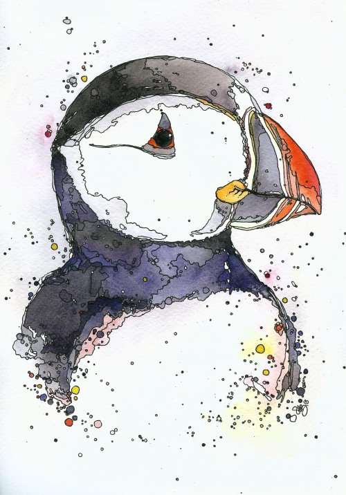 Puffin Along - to be exhibited @ Castle Espie March/April