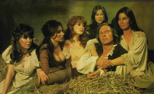 Horst Janson and a bevy of beauties in a publicity photo for Captain Kronos - Vampire Hunter (1974)