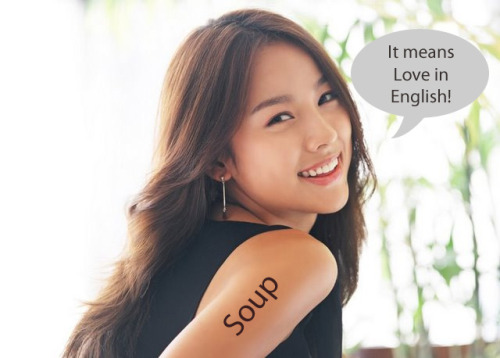 lol-post:  If Chinese girls really do get tattoos of English words.http://lol-post.tumblr.com/