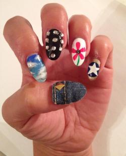 90's music memories! - B*witched themed nails I created for District MTV
