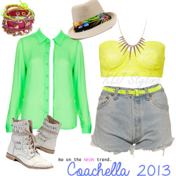 kljfashionstyling:  Coachella outfit - Weekend 2!  Coachella neons! JAMIE!