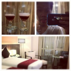 At Ramada Hotel #binondo #alone #wine #lcm #hotel #relax #leisuretime