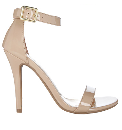 Spotted at Payless: the perfect shoe to get you through wedding season! The neutral color will work with all of your dresses, and the ankle strap is SO on-trend!