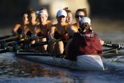 alissajane:  I've always felt that the sport of rowing is strangely indicative of day to day life. Even more so than other sports. The way you're seemingly backwards but in reality you are flying forward. There are no breaks, you can't slow down, take a breather, or even see the end. You just have to have faith that the people guiding you, motivating you, and helping you (coxn shout out!) are steering you in the right direction. Sometimes it feels like you have nothing left. All you can think about is the pain. But you take comfort in the fact that you are not alone. People you love are pulling for you and you for them. Instead of stopping, quitting, giving up, you find strength and work harder with a purpose. It sure as hell isn't easy. It is definitely not always fun. Sometimes it hurts more than anything in the world…but you never stop caring. Never stop trying. And you love every second of it.