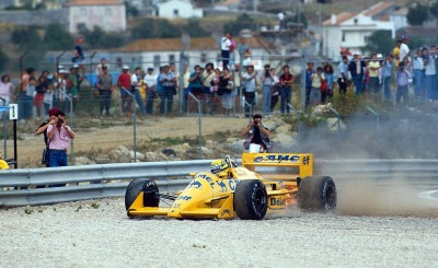 game over …Ayrton Senna, Camel Lotus-Honda 99T, 1987 Portuguese Grand Prix, Estoril