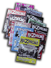 razorcake:  12 Random Issues for $12! For $12 we'll send you 12 random issues from what we currently have in stock.Feel free to make suggestions in the comments section, but we can't make any promises. Unfortunately, this deal is for domestic customers only. But if you live in another country, please drop a line and we might be able to work out a different deal.Thanks!  Today is pretty reblog heavy for me, but the awesome announcements and deals just keep coming!  12 back issues of Razorcake magazine for just $12?!  My god!  You should all do this!! ORDER IT!