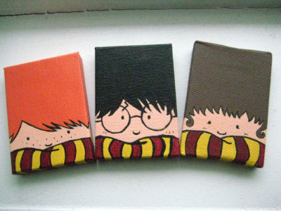"""Trio"" Harry Potter Magnet Set by recTangles11"