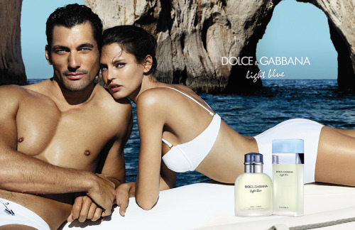 Bianca Balti & David Gandy by Mario Testino for Dolce & Gabbana Light Blue Fragance Ad Campaign