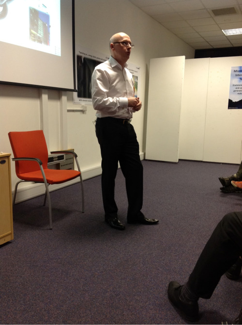 "John Dew speaking tonight at the event in Cardiff to senior leaders from the public sector: ""You need to free up your team to be a more dynamic living entity"" The key words are 'intervention' and 'innovation' that's where Mission Critical Intervention Teams can help."