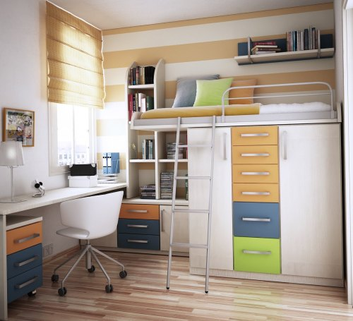 Love this!  homedesigning:  Space Saving Idea