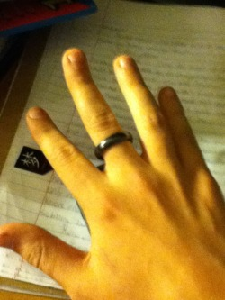 laughing-disease:  I got a black ring Now I can flip people off in an asexual manner!  so gleaming